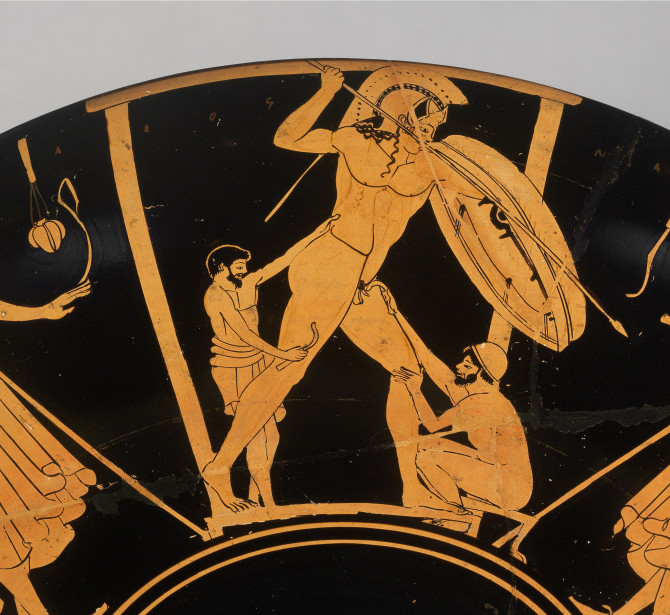 Ferdinando Marinelli Artistic Foundry of Florence FAFM. Lost-Wax casting technique, the origin. Attic kylix (drinking cup) with foundry scenes, 490 BCE.