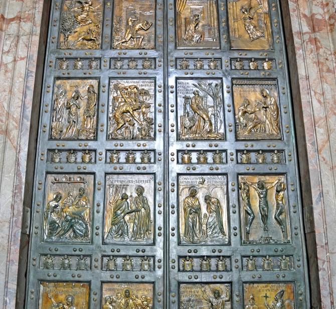 orta Santa della Basilica di San Pietro in Vaticano, realizzata dalla Fonderia Artistica Ferdinando Marinelli di Firenze