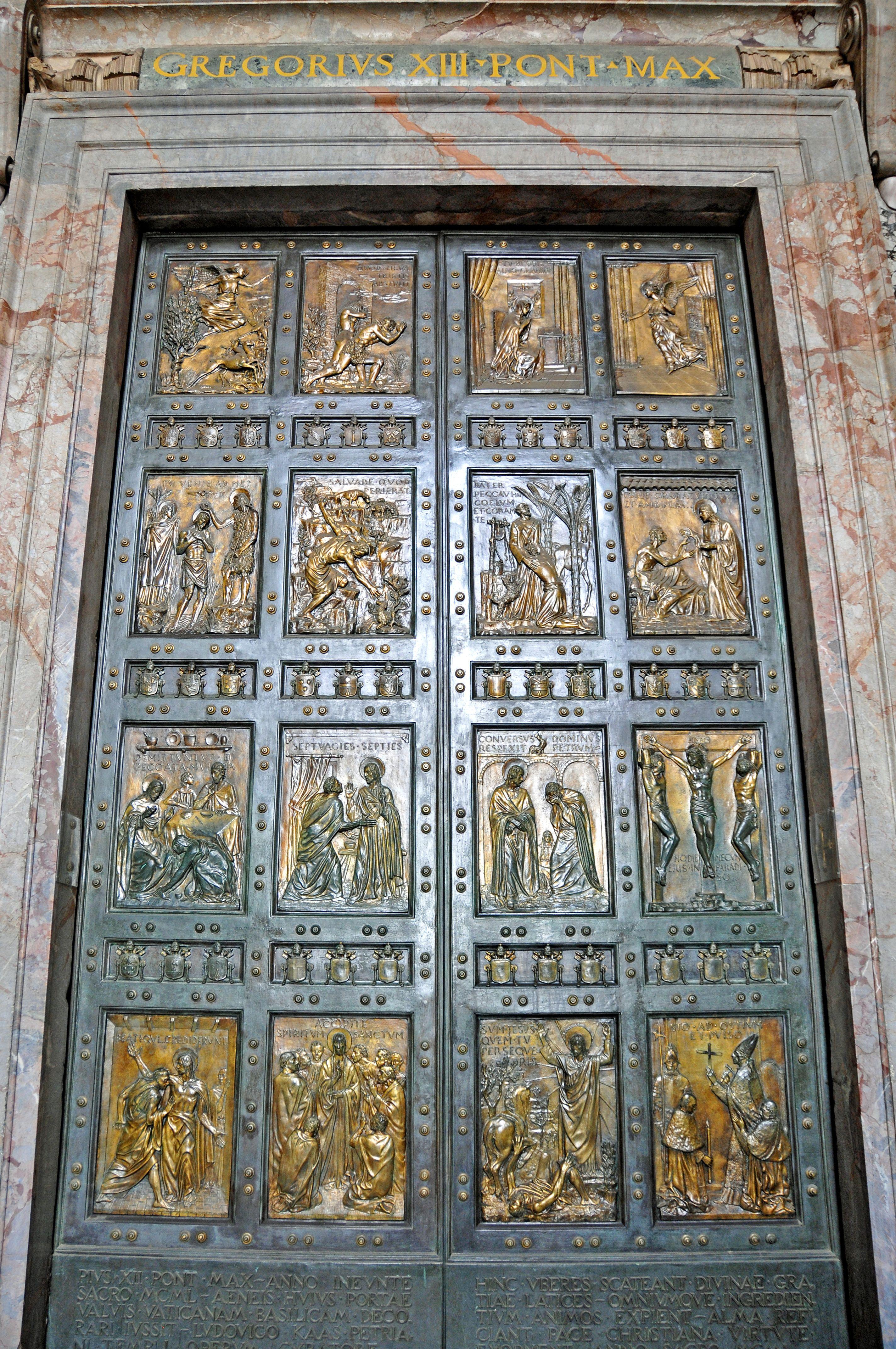 Porta santa 3 fonderia artistica ferdinando marinelli - Immagini porta santa ...