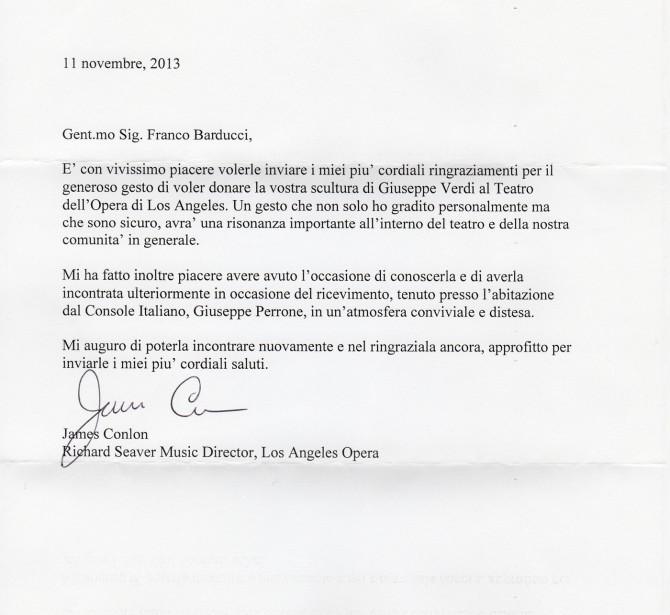 James Conlon's letter