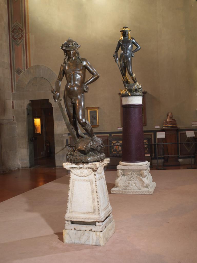 I due David di Donatello esposti al Bargello